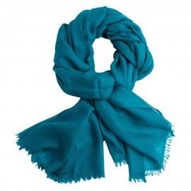 Petroleums blåt diamant vævet pashmina tørklæde