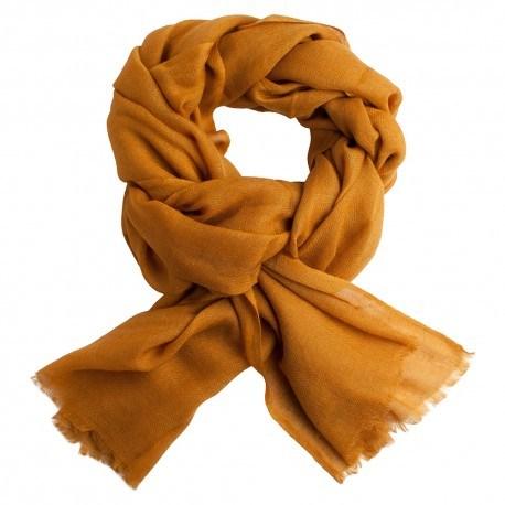 Mørk gyldent pashmina sjal i diamant mønster