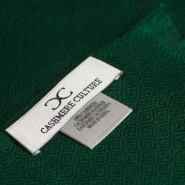 Mørkegrønt diamant vævet pashmina sjal