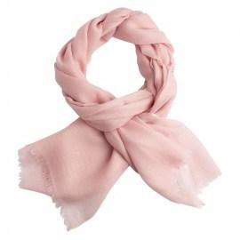 Sart rosa pashmina sjal i diamant vævning