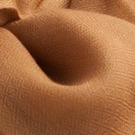 Karamelfarvet pashmina sjal i diamant vævning