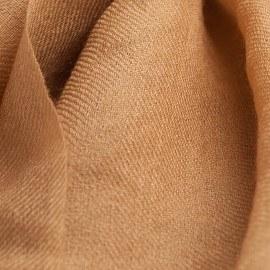 Karamelfarvet pashmina sjal i 2 ply twill