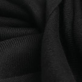 Koksgråt pashmina sjal vævet i 2 ply twill