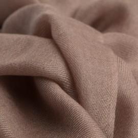 Gråbrunt pashmina sjal i 2 ply twill
