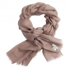 Gråbeige pashmina sjal i 2 ply cashmere twill
