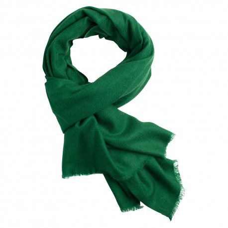 Mørkegrønt pashmina tørklæde i cashmere
