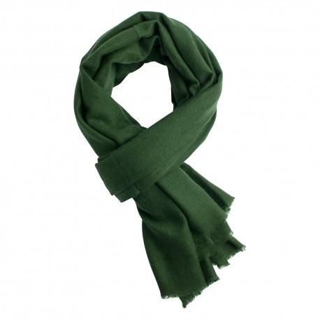 Armygrønt twill vævet pashmina tørklæde