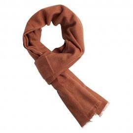Kastanjebrunt twill vævet pashmina tørklæde