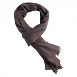 Musegråt pashmina tørklæde i cashmere