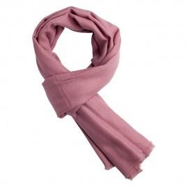 Rødviolet pashmina tørklæde i ren cashmere