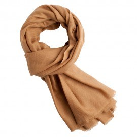 Karamelfarvet twill vævet pashmina tørklæde