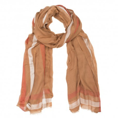 Cashmere/modal tørklæde i jordfarver