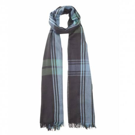 Sort skotskternet bomuldstørklæde