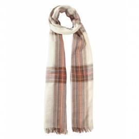 Råhvidt skotskternet bomuldstørklæde