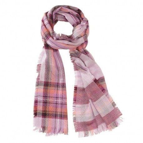 Rosa tørklæde i ren merino uld