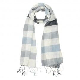 Ternet silketørklæde i blå nuancer