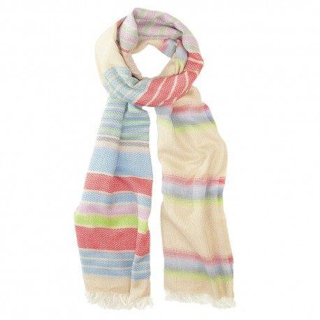 Multifarvet bomuldstørklæde