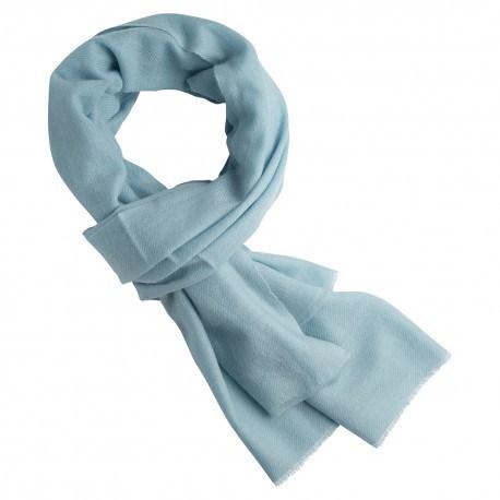 Isblåt cashmere tørklæde