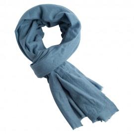 Gråblåt cashmere tørklæde