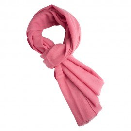 Rosa twill vævet pashmina tørklæde
