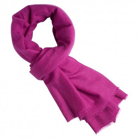Lyngfarvet twill vævet pashmina tørklæde