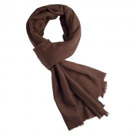 Sortbrunt twill vævet pashmina tørklæde