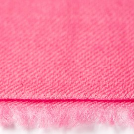 Rosa dobbelttrådet twill pashmina sjal
