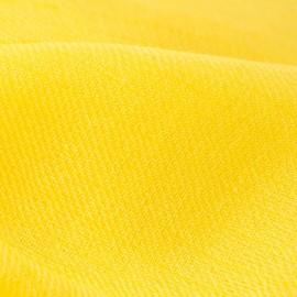 Gult dobbelttrådet twill pashmina tørklæde