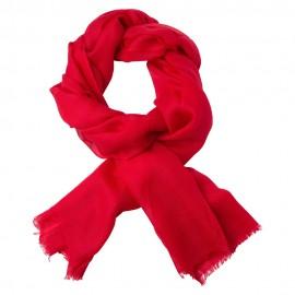 Mørkerødt dobbelttrådet twill pashmina sjal