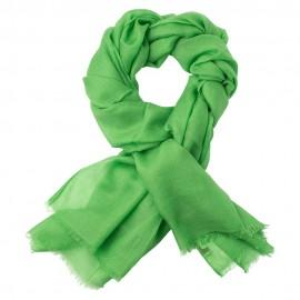 Græsgrønt dobbelttrådet twill pashmina sjal