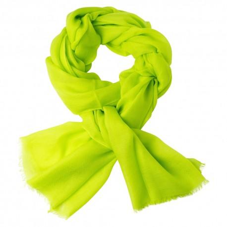 Limegrønt dobbelttrådet twill pashmina tørklæde