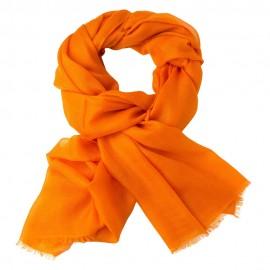 Orange dobbelttrådet twill pashmina sjal