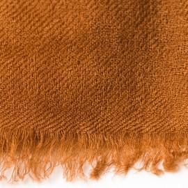 Kastanjebrunt dobbelttrådet twill pashmina sjal