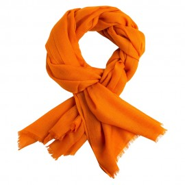 Orange diamant vævet pashmina sjal