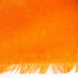 Orange diamant vævet pashmina sjal