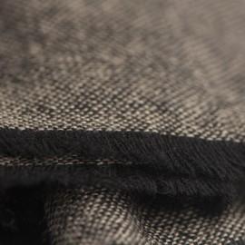 Cashmere tørklæde i mørkegrå/sort melange