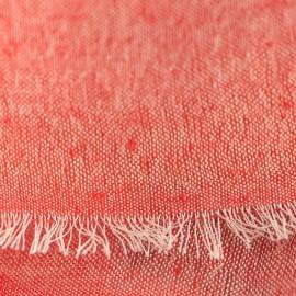 Ternet silke/cashmere sjal i røde farver