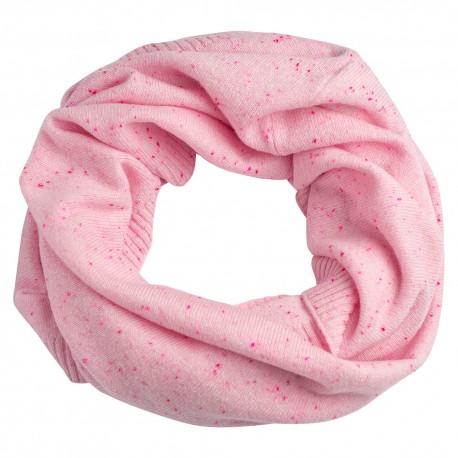 Sart rosa nistret tubehalstørklæde i ren cashmere