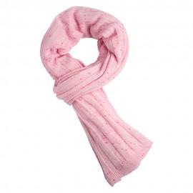 Rosa cashmere halstørklæde med nister