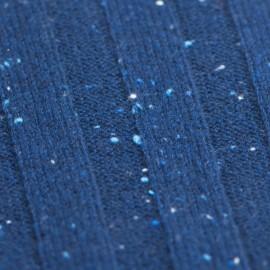 Blåt strikket cashmere halstørklæde med nister