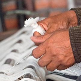 Håndvævede sjaler