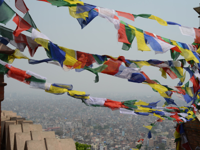 Udsigt fra Swayambhunath