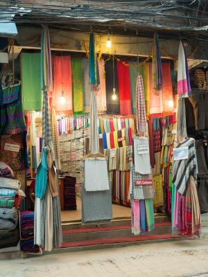 Pashminashop i Nepal