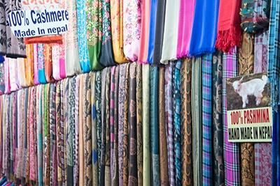 Pashmina butik i Nepal