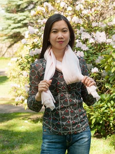 Tørklæde binding - fransk knude med et tvist 1