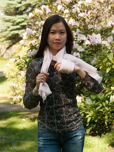 Tørklæde binding - fransk knude med et tvist 2